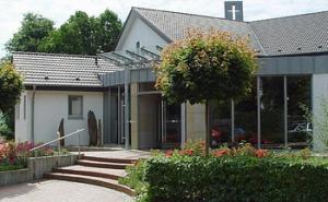 Der Eingang in unser Gemeindezentrum